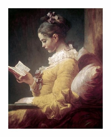 "Jean Honore Fragonard Fine Art Open Edition Giclée:""Young Girl Reading"""