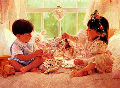 """Jean Monti Limited Edition Print: """"Two for Tea"""""""