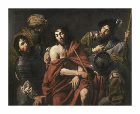 """Jean Valentin De Boulogn Fine Art Open Edition Giclée:""""Jesus Insulted by the Soldiers"""""""