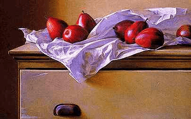 """Jeff Larson Limited Edition Print: """"Red d' Anjou"""""""