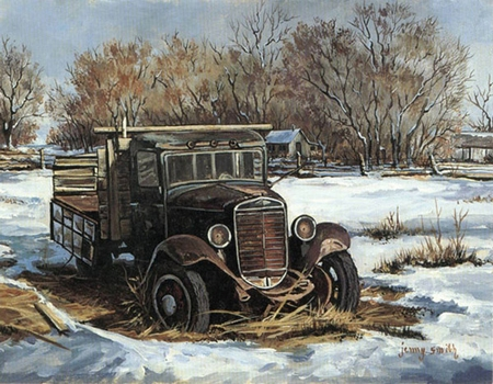 """Jenny Smith Handsigned and Numbered Limited Edition Print: """"Out to Pasture"""""""