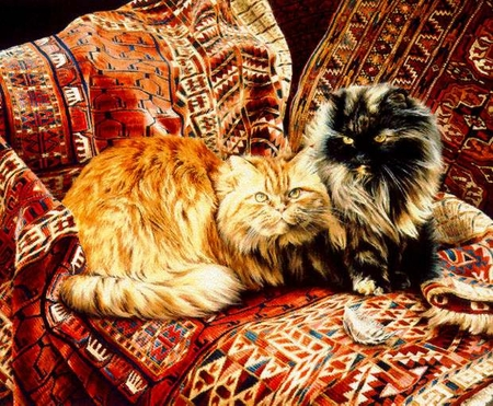 """Jessica Holm Limited Edition Print:""""Five Persians """""""