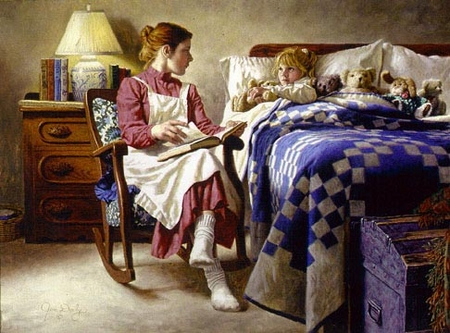 """Jim Daly Limited Edition Print: """"Bedtime Story"""""""