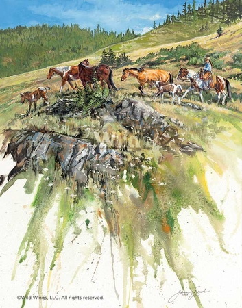"""Janene Grende Hand Signed and Numbered Limited Edition:""""A Fine Day – Horses"""""""