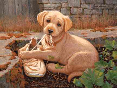 """Jim Lamb Limited Edition Print: """"The Missing Shoe"""""""
