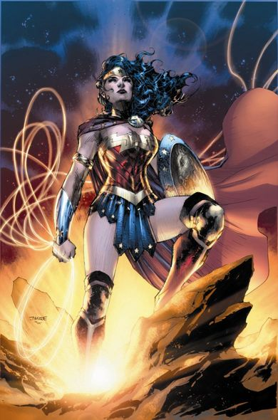 "Jim Lee Hand Signed and Numbered Limited Edition Gicleé:""Wonder Woman - Goddess of Truth"""