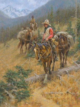 """Jim Rey Handsigned and Numbered Limited Edition: """"Mountain Trail"""""""