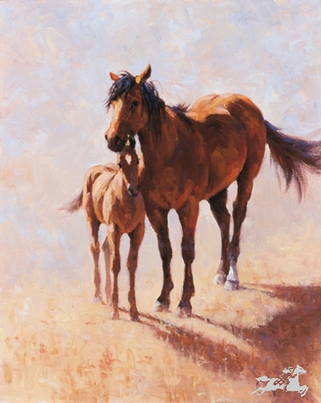 "Jim Rey Handsigned & Numbered Limited Edition Print:""Mustang Mama """