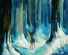 """Jim Salvati Handsigned and Numbered Limited Edition Canvas Giclee: """"Alone in the Woods"""""""