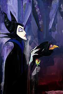 """Jim Salvati Handsigned and Numbered Limited Edition Canvas Giclee: """"Maleficent"""""""