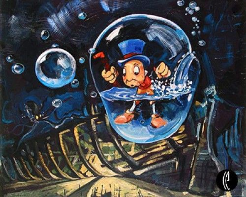 """Jim Salvati Handsigned and Numbered Limited Edition Canvas Giclee: """"Waterlogged"""""""