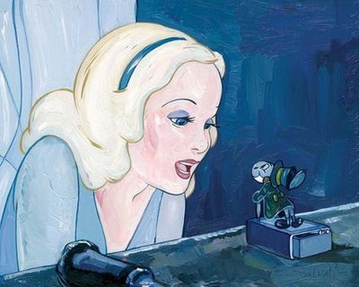 """Jim Salvati Handsigned and Numbered Limited Edition Giclee on Canvas:""""Blue Fairy"""""""
