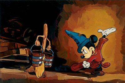 """Jim Salvati Limited Edition Giclee on Canvas: """"The Sorcerer's Apprentice"""""""