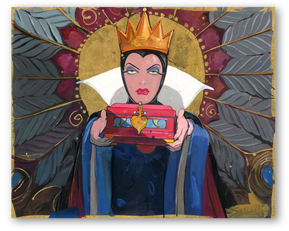 """Jim Salvati Limited Edition Hand-Embellished on Hand-Textured Canvas Giclee:""""Bring Back Her Heart"""""""