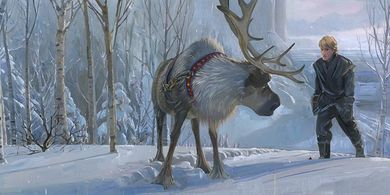 """Jim Salvati Signed and Numbered Limited Edition Hand-Textured Giclée on Canvas:""""Epic Journey - Frozen"""""""