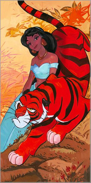 """Jim Salvati Signed and Numbered Limited Edition Hand-Textured Giclée on Canvas:""""Jasmine's Fierce Protector"""""""