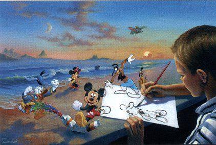 """Jim Warren Handsigned & Numbered Limited Edition Giclee on Canvas:""""Dream Maker"""""""