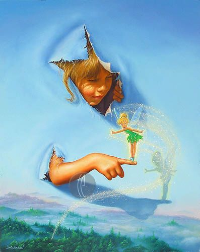 """Jim Warren Handsigned & Numbered Limited Edition Giclee on Canvas:""""Making Friends"""""""
