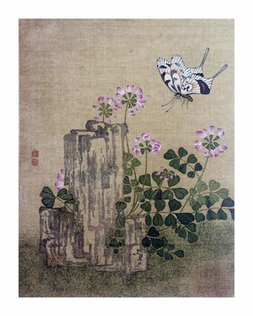 """Jing Yi Fine Art Open Edition Giclée:""""Silk Leaf From an Album of Flower and Bird Paintings"""""""