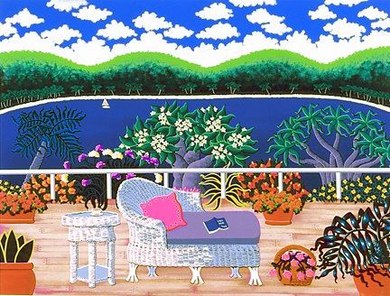 """Joanne Netting Limited Edition Serigraph on Paper: """" Summer Holiday """""""