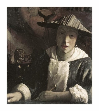 "Johannes Vermeer Fine Art Open Edition Giclée:""Girl with a Flute"""