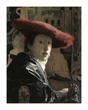 """Johannes Vermeer Fine Art Open Edition Giclée:""""Girl with a Red Hat"""""""