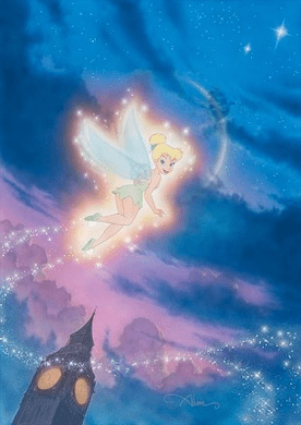 "John Alvin Hand Signed and Numbered Limited Edition Giclee on Canvas:""Tink Shows the Way"""