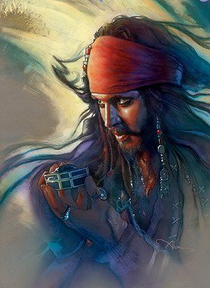 "John Alvin Handsigned & Numbered Giclee Limited Edition Canvas:""Heart's Desire - Pirates of the Caribbean """
