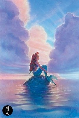 "John Alvin Handsigned & Numbered Limited Edition Giclee on Canvas:""Ariel"""