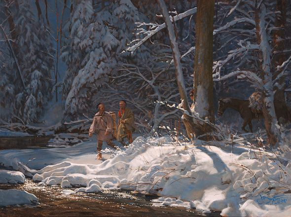 """John Buxton Hand Signed and Numbered Giclée Canvas:""""Almost Quiet"""""""