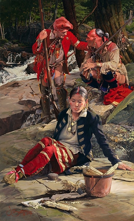"""John Buxton Handsigned & Numbered Limited Edition Print:""""Kinsman to the Shawnee """""""