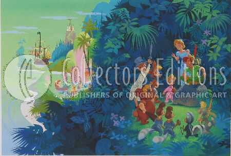 """John Hench Limited Edition Giclee on Paper :""""Neverland """""""