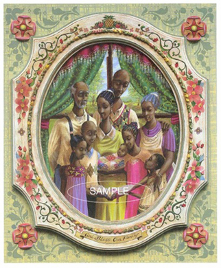 """John Holyfield Handsigned and Numbered Limited Edition Signed :""""Family"""""""