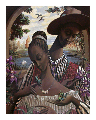 """John Holyfield Handsigned and Numbered Limited Edition :""""Soul Mates"""""""