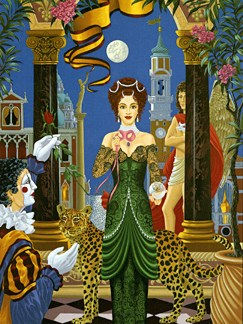 """John Kiraly Limited Edition Serigraph on Paper: """" Fortune Teller """""""