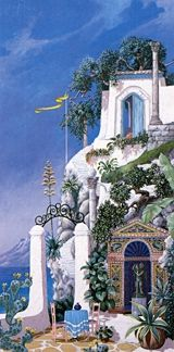 """John Kiraly Limited Edition Serigraph on Paper: """" Just Beyond Pompeii """""""