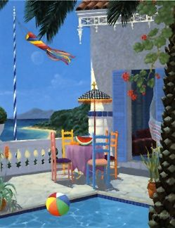 """John Kiraly Limited Edition Serigraph on Paper: """" Lazy Afternoon """""""
