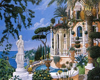 "John Kiraly Limited Edition Serigraph on Paper: "" View to Sorrento """