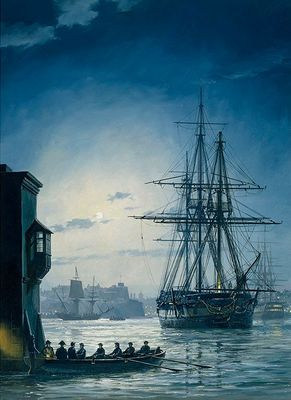 """Geoff Hunt Artist Signed Limited Edition Canvas Giclee:""""Treason's Harbour"""""""