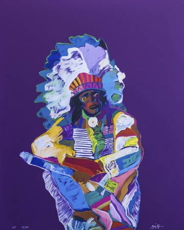 """John Neito Hand Signed Limited Edition Serigraph on Paper:""""Chief"""""""