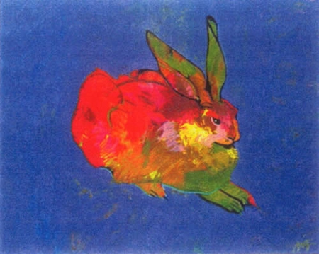 """John Neito Limited Edition Serigraph on Paper:""""Rabbit (After Durer)"""""""