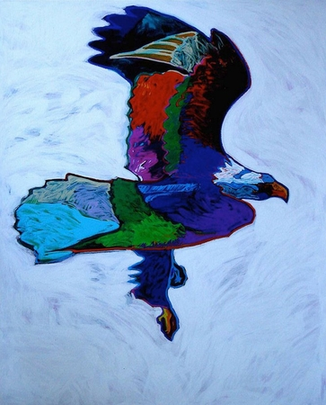 "John Neito Limited Edition Serigraph on Paper:""Eagle"""