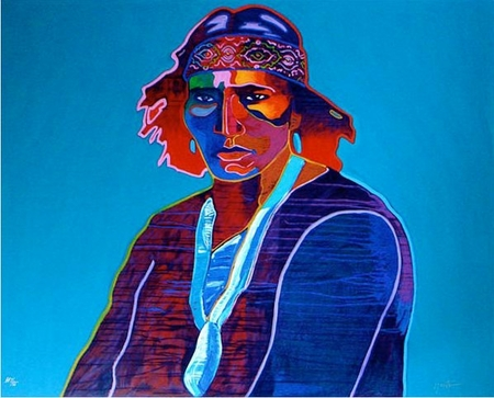 "John Neito Limited Edition Serigraph on Paper:""Navajo"""