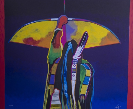 """John Nieto Hand Signed and Numbered Limited Edition Serigraph on Paper:""""Whirlwind Soldier"""""""