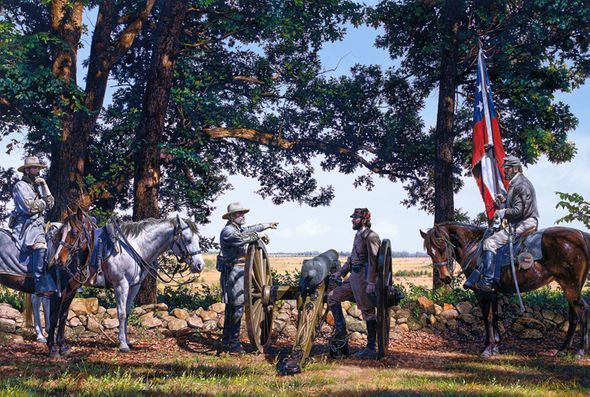 """John Paul Strain Hand Signed and Numbered Limited Edition:""""Battlefield Gettysburg"""""""