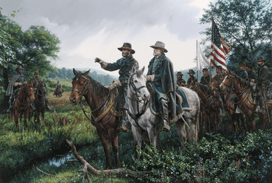 """John Paul Strain Hand Signed and Numbered Limited Edition Canvas Giclee:""""New Day at Appomattox"""""""