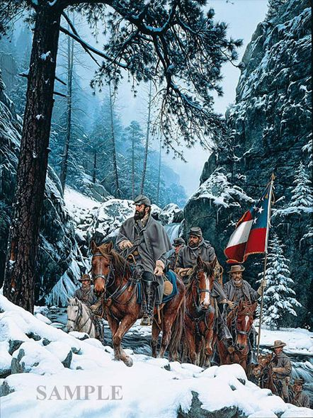 """John Paul Strain Hand Signed and Numbered Limited Edition Canvas Giclee:""""The Romney Expedition"""""""