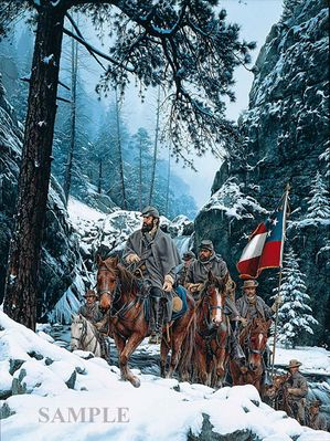 "John Paul Strain Hand Signed and Numbered Limited Edition Canvas Giclee:""The Romney Expedition"""
