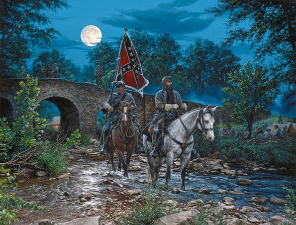 "John Paul Strain Hand Signed and Numbered Limited Edition:""Gettysburg Moon"""