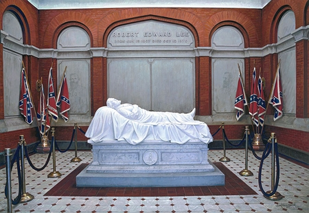 """John Paul Strain Hand Signed and Numbered Limited Edition Giclee:""""Robert E. Lee's Memorial"""""""